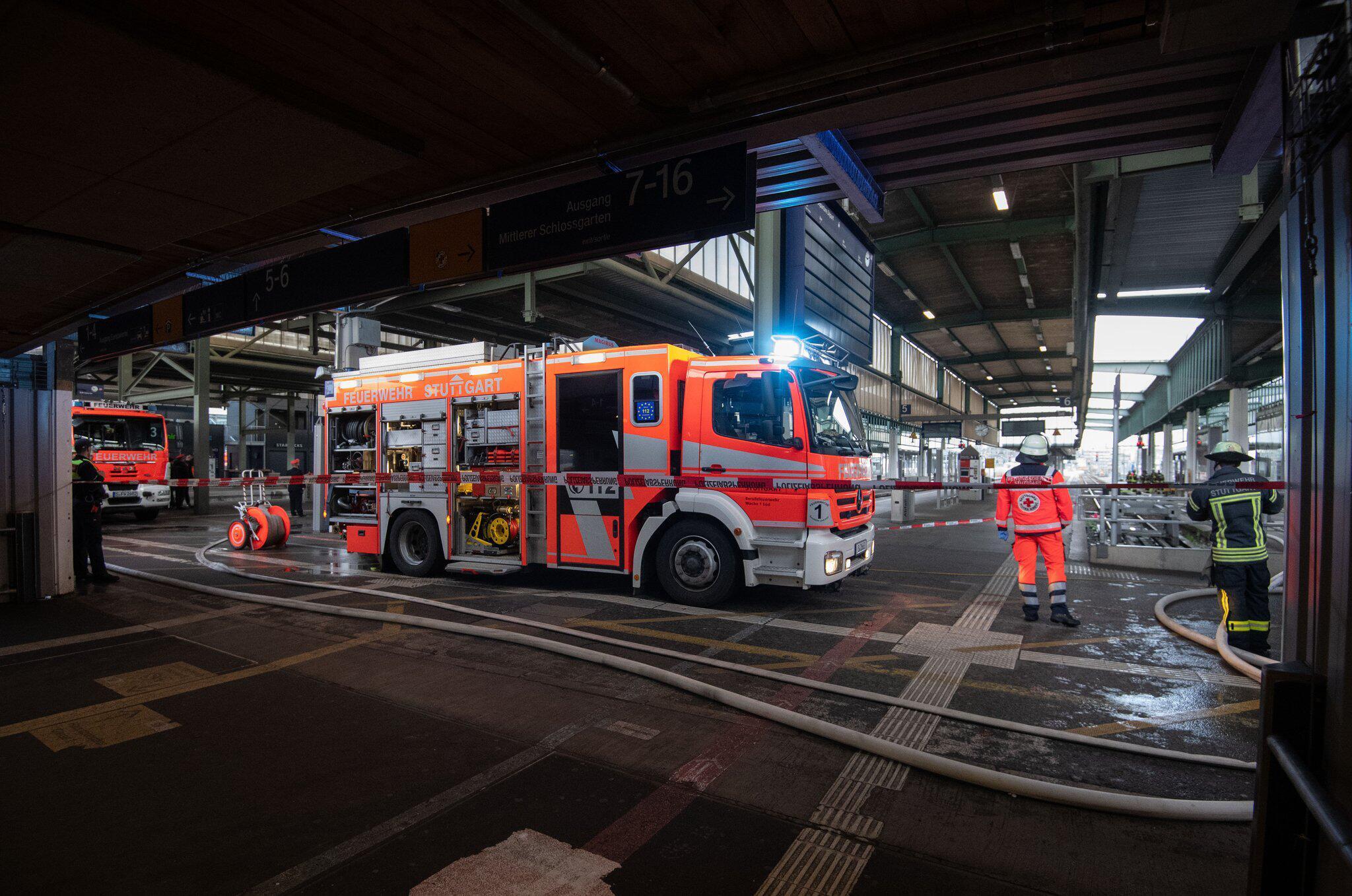 Bild zu Stuttgart central station closed due to fire brigade action