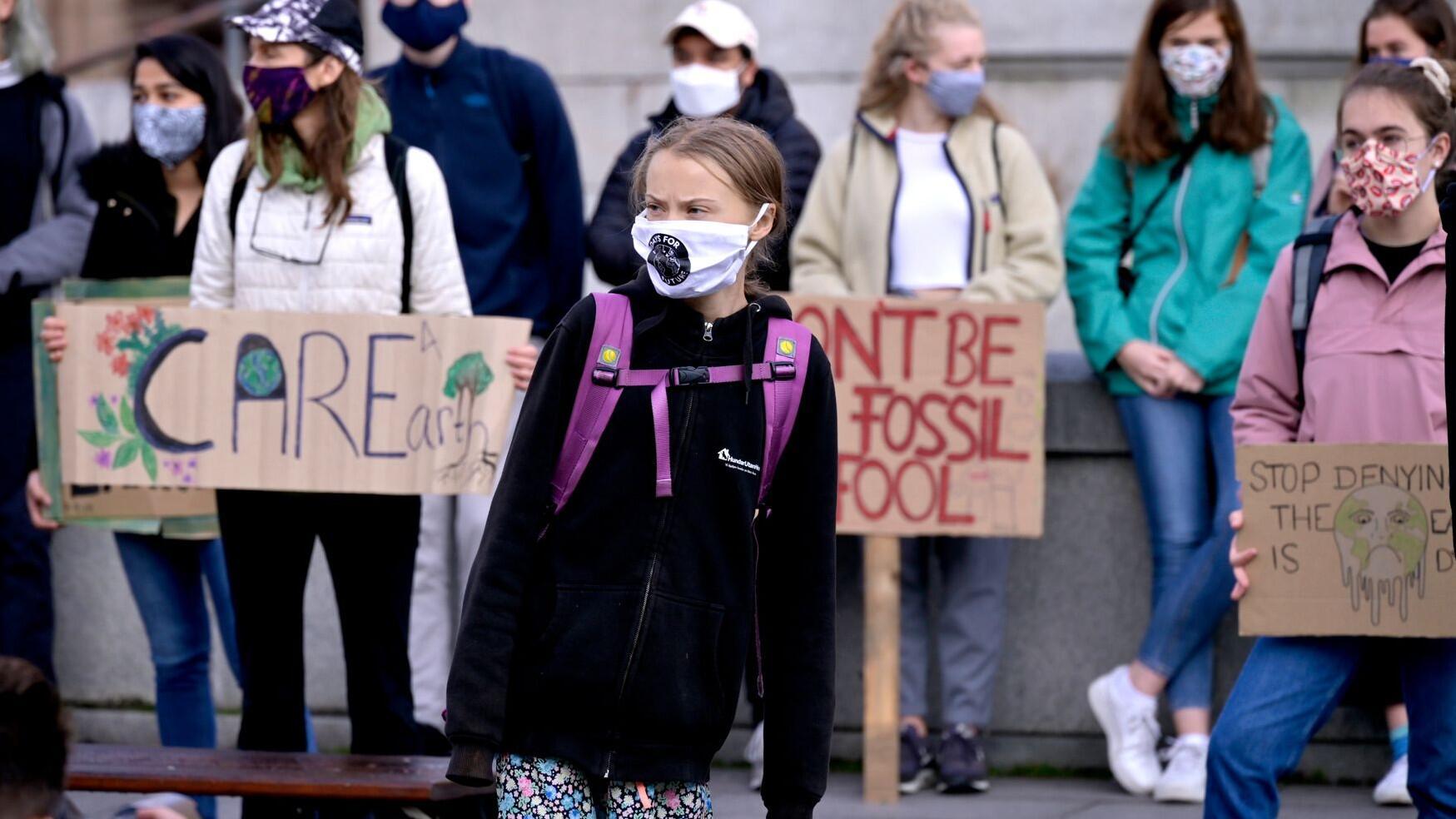Bild zu Klimastreik in Stockholm