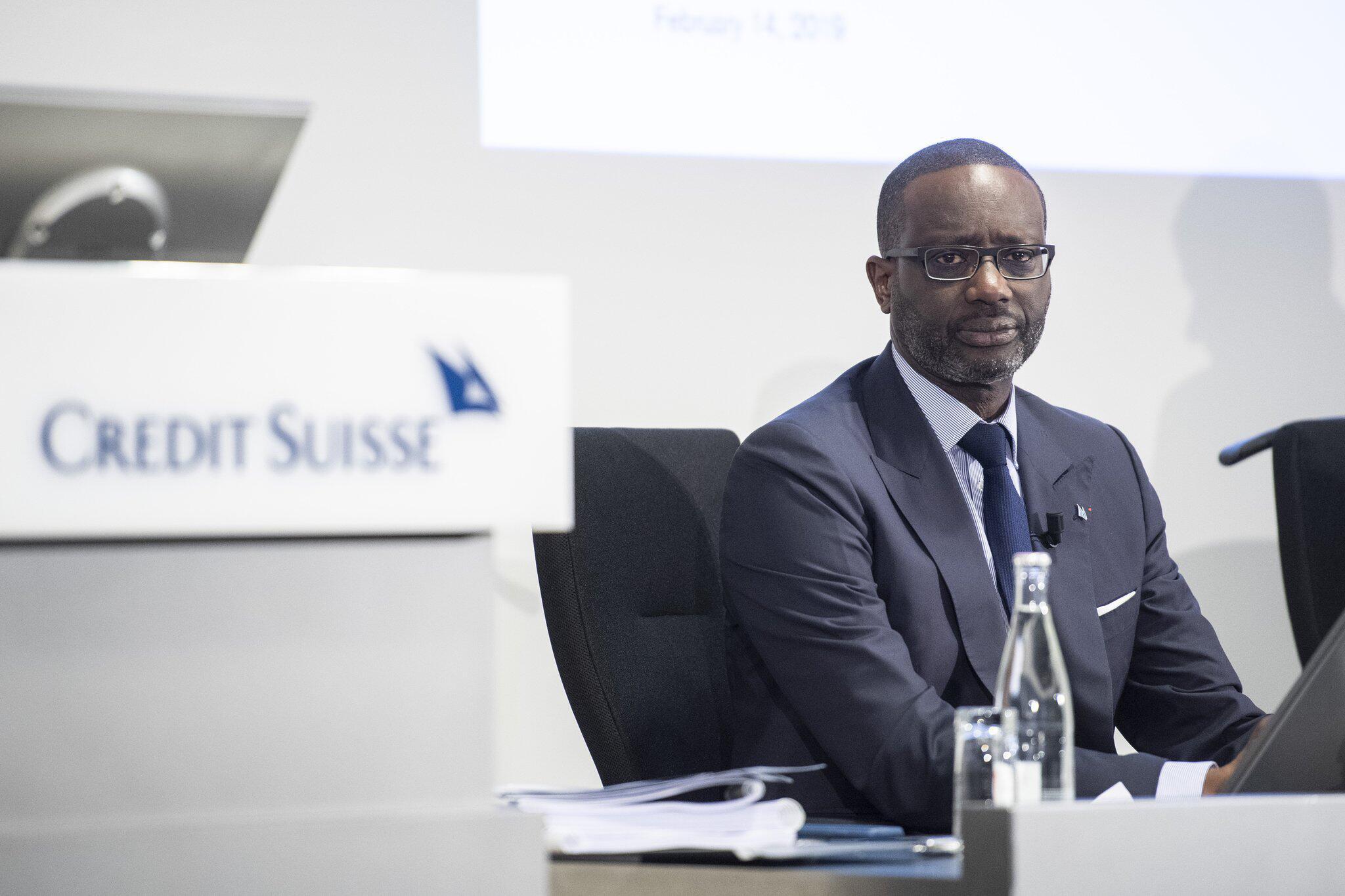 Bild zu Bilanzpressekonferenz, Pressekonferenz, Credit Suisse, Tidjane Thiam, CEO, Zürich, Wirtschaft, Bank
