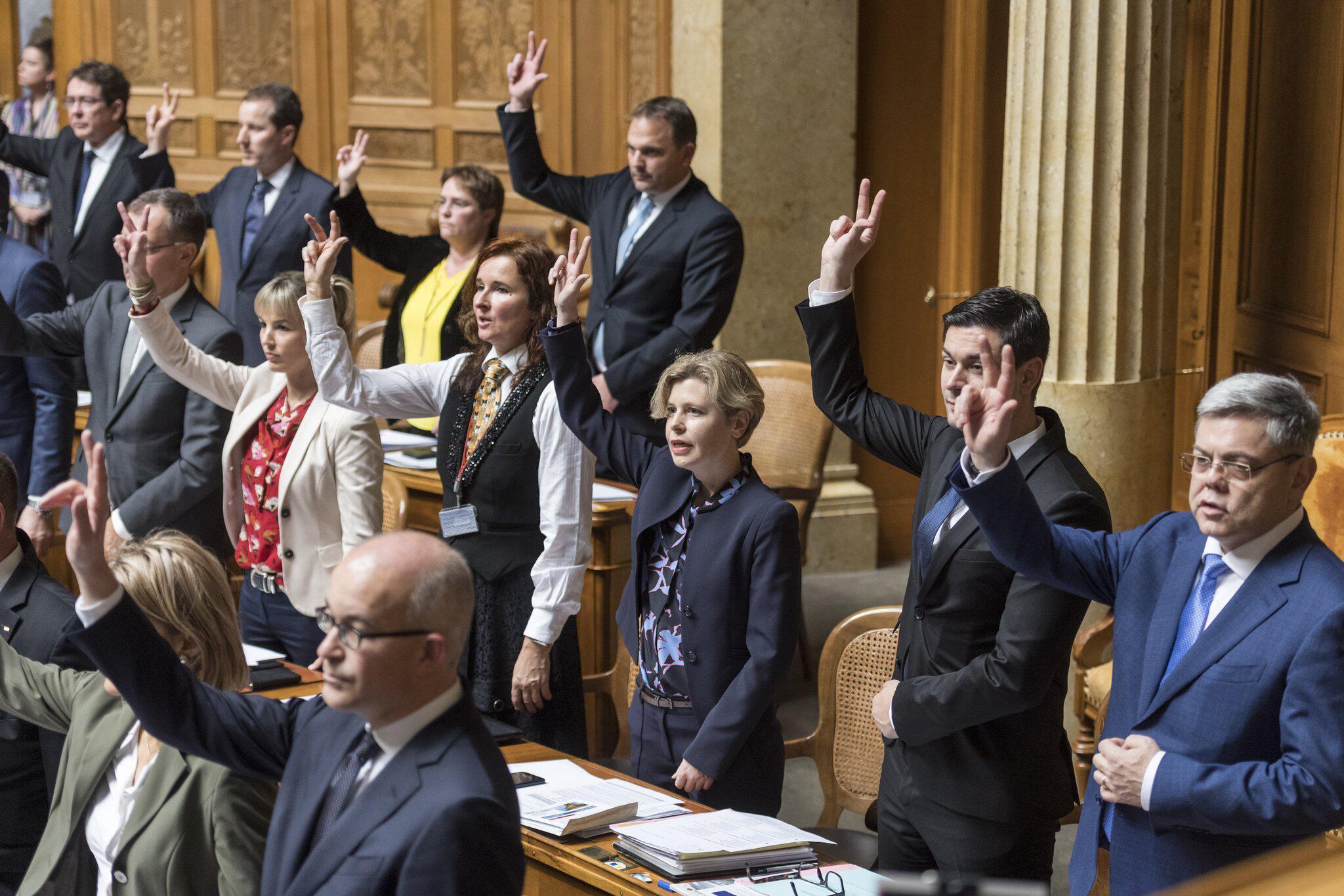 Bild zu Vereidigung des neuen Schweizer Parlaments