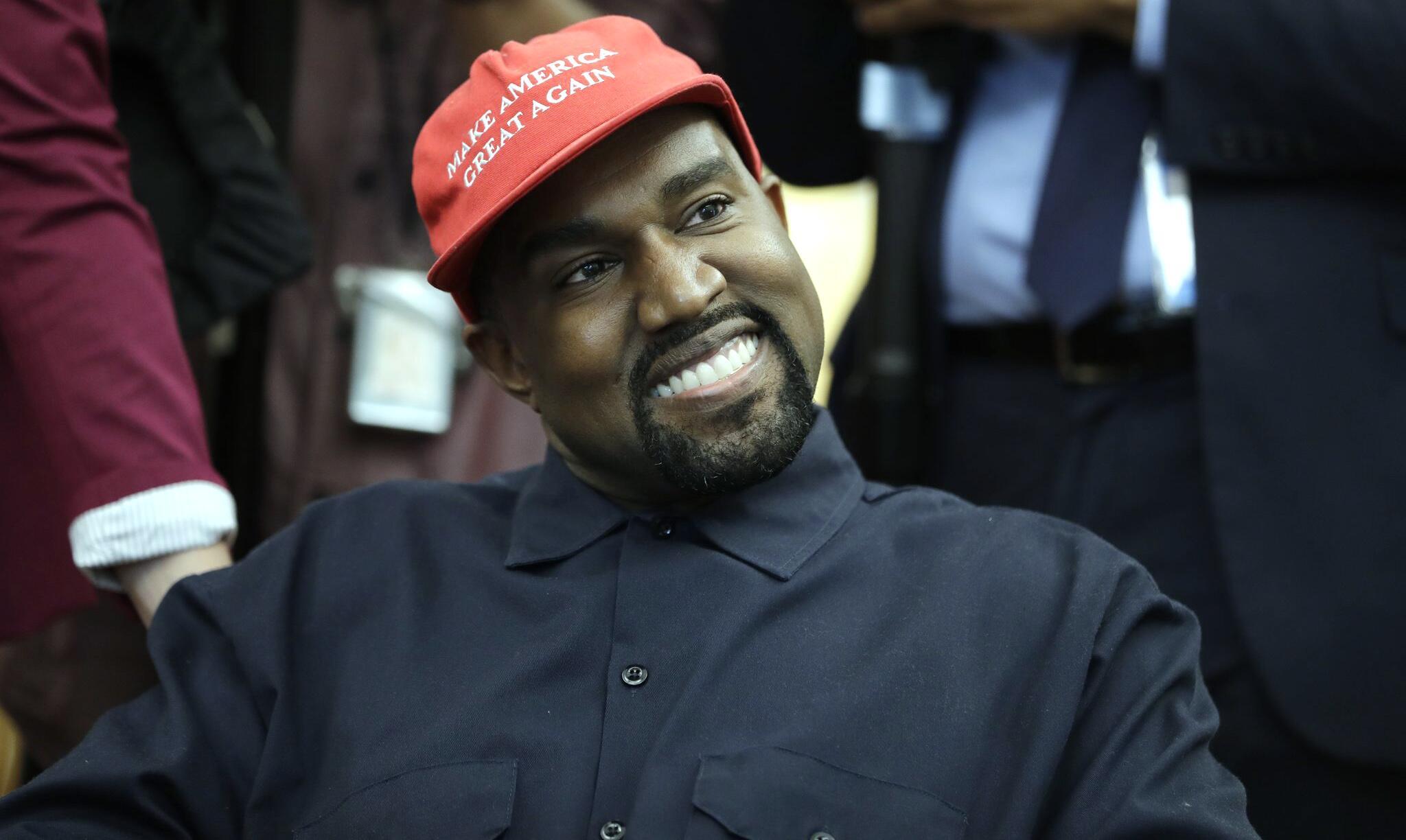 Bild zu US-Rapper Kanye West im Weissen Haus