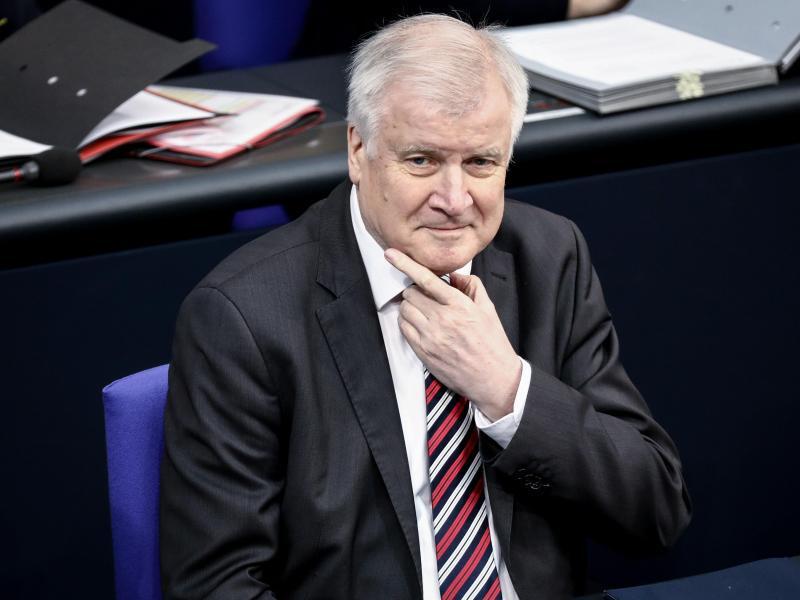 Bild zu Seehofer im Bundestag