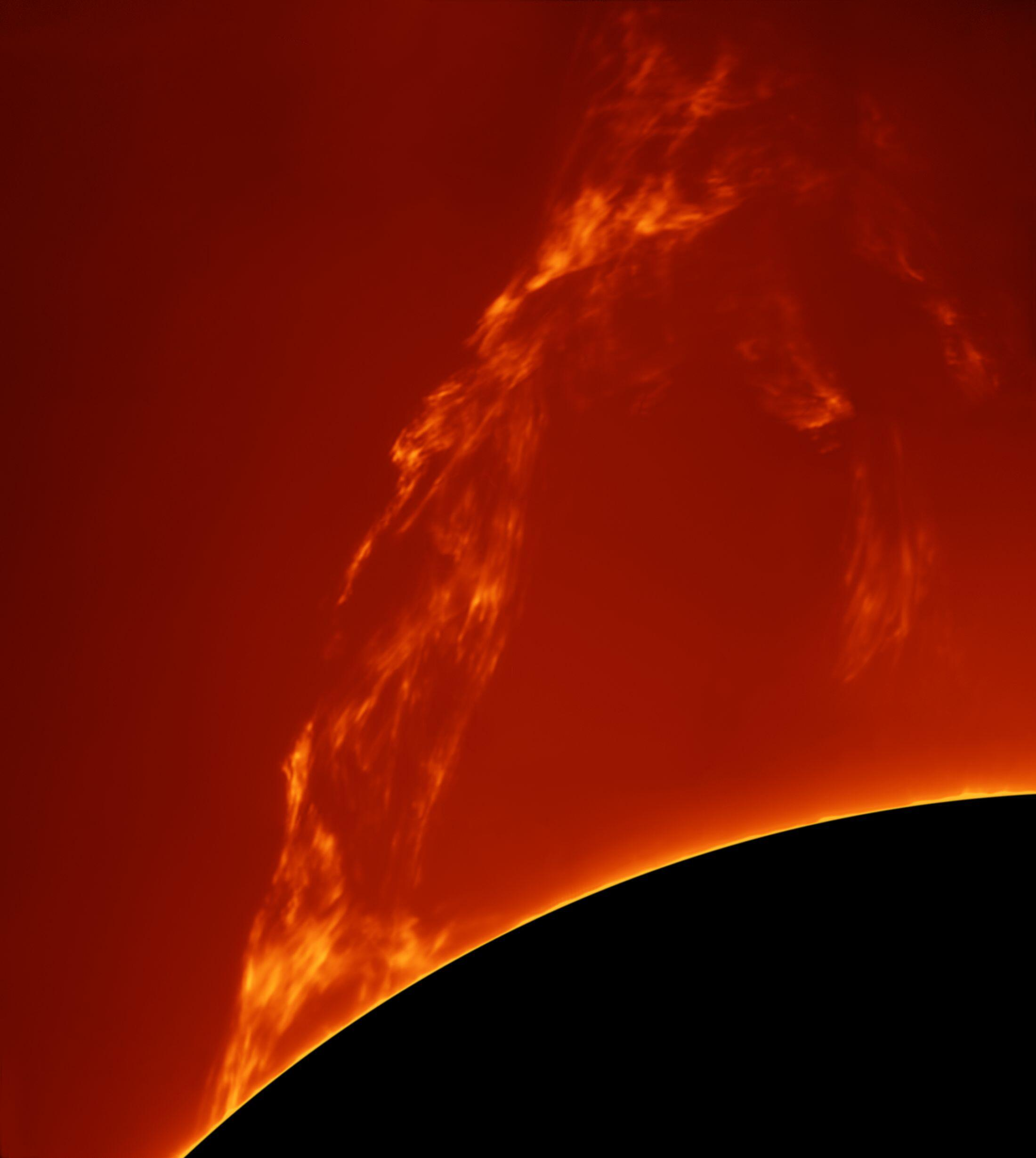Bild zu Paolo Porcellana (Italy) with Huge Prominence Lift-Off