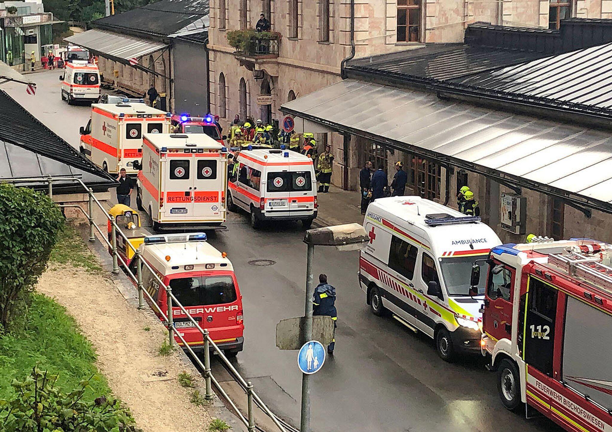 Bild zu Explosion im Salzbergwerk Berchtesgaden
