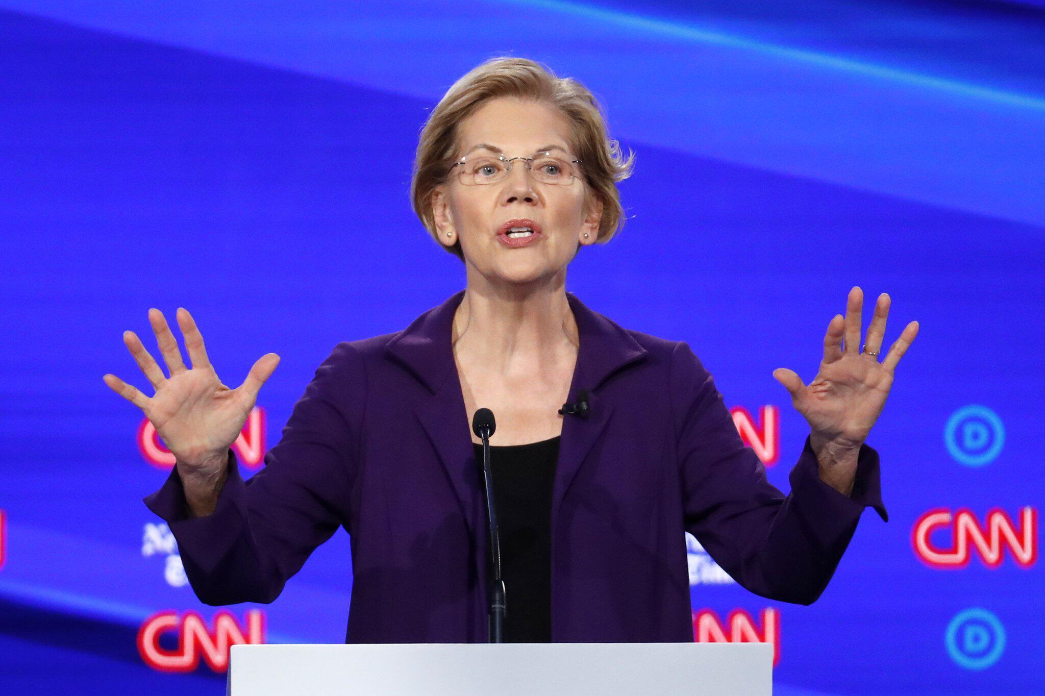 Bild zu Elizabeth Warren, Wahlkampf in den USA - 4. TV-Debatte der Demokraten
