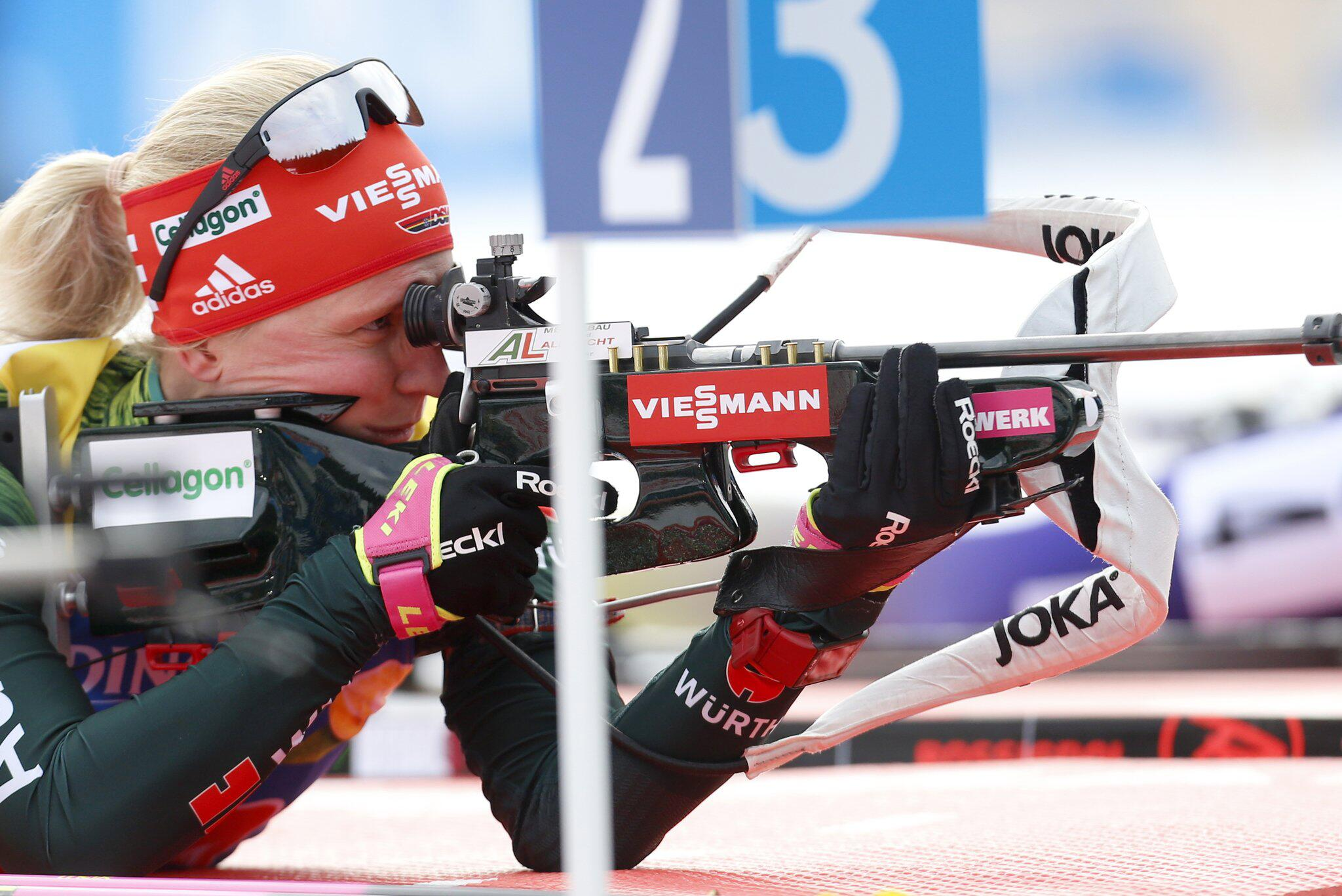 Bild zu Biathlon, Weltcup, Slowenien, Pokljuka, Franziska Hildebrand, Mixed, Staffel