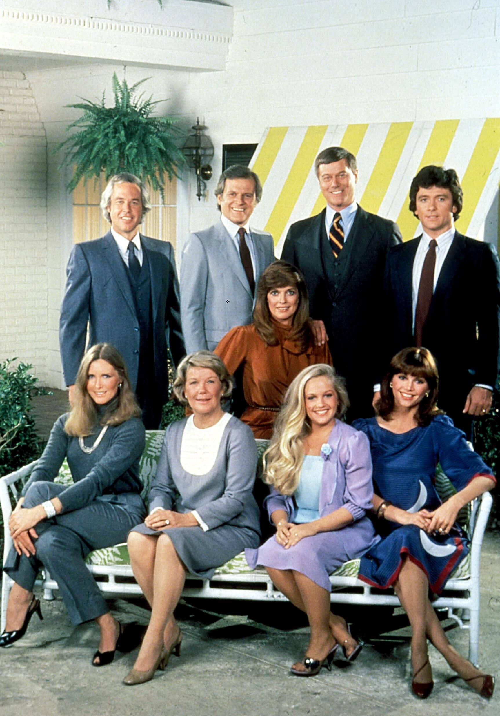 Bild zu Larry Hagman, Patrick Duffy, Linda Grey, Victoria Principal