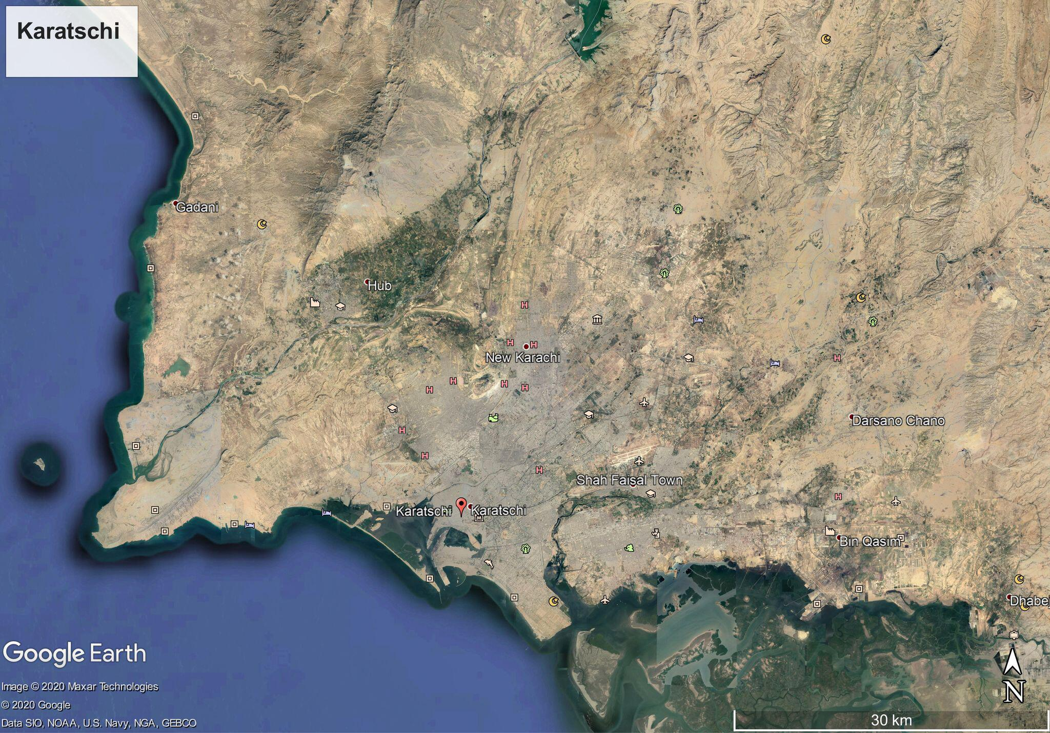 Bild zu Pakistan, Karte, FLugzeugabsturz