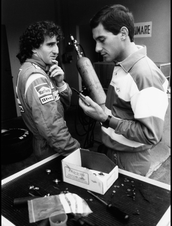Bild zu Alain Prost, Ayrton Senna, Formel 1, McLaren