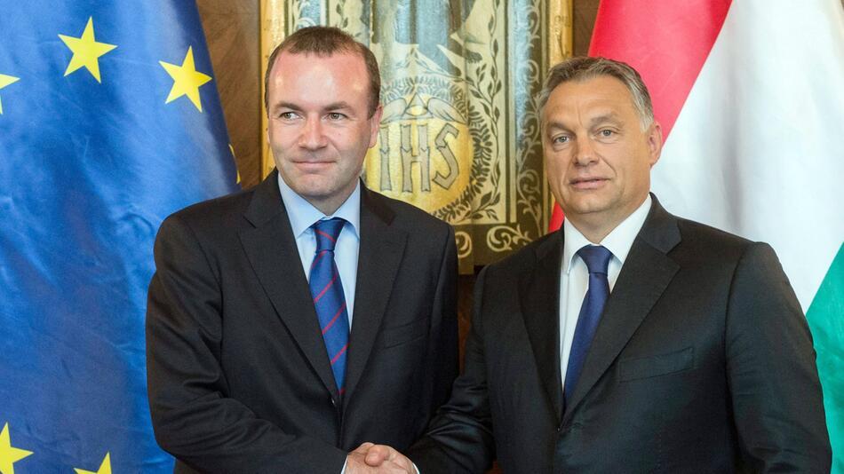 Viktor Orban und Manfred Weber
