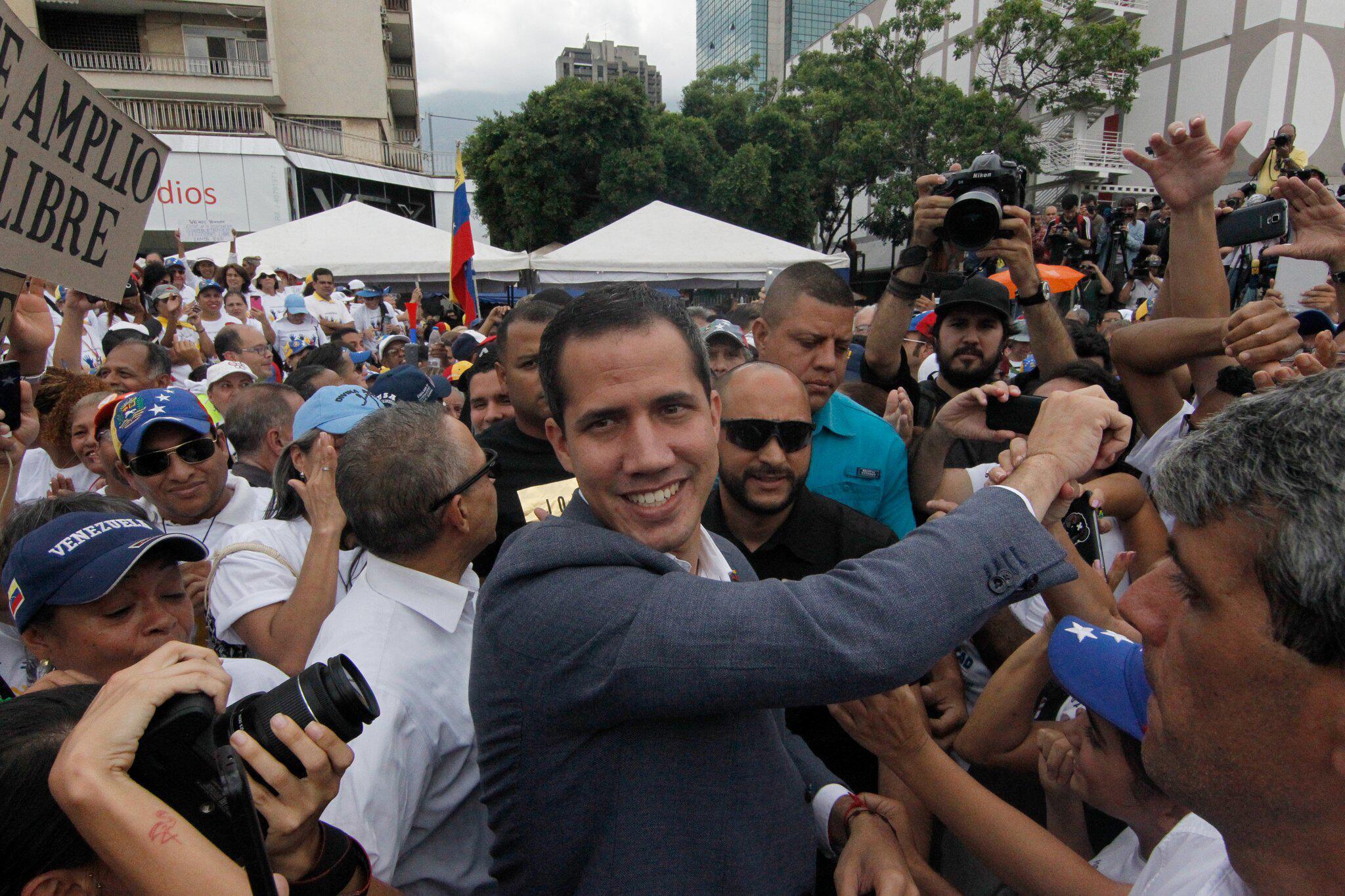 Bild zu Demonstration, Juan Guaido, Venezuela, Caracas, Putsch, Umsturz, Nicolas Maduro