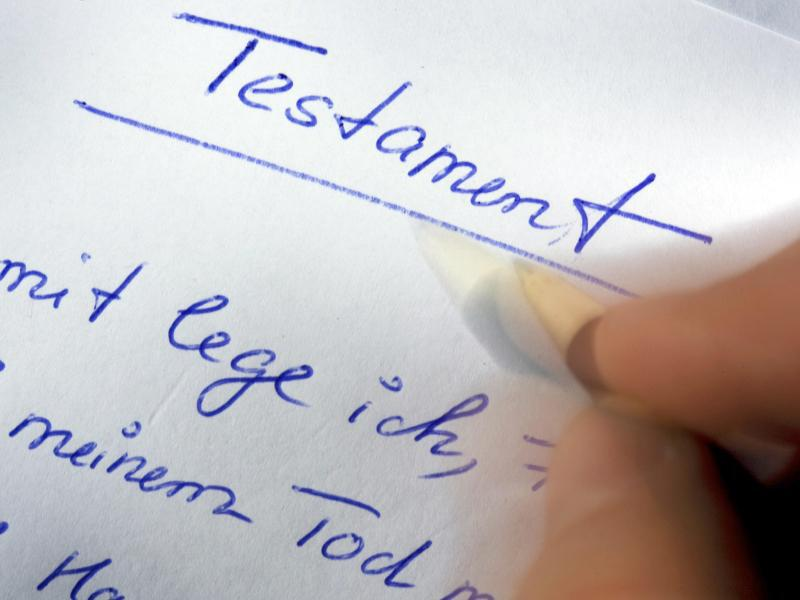 Bild zu Verfassen eines Testaments