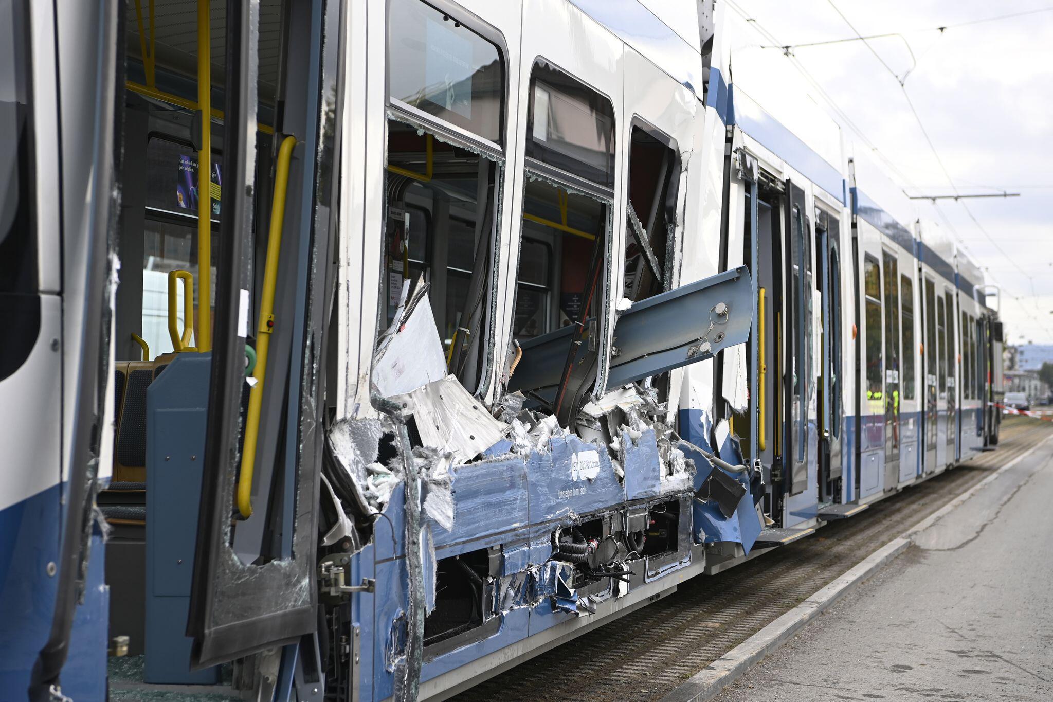 Bild zu Strassenbahnunfall in Zürich