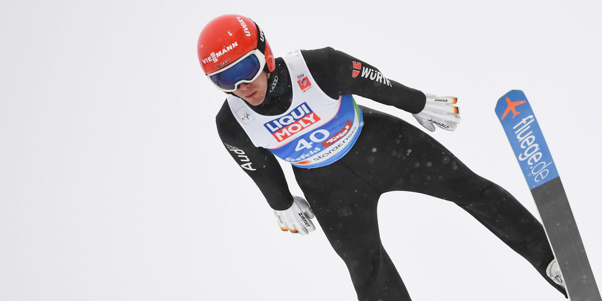 Bild zu Nordische Ski-WM, Ski-WM, Skispringen, Normalschanze, Stephan Leyhe, Seefeld