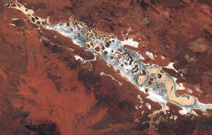 Amadeus-See im nördlichen Australien