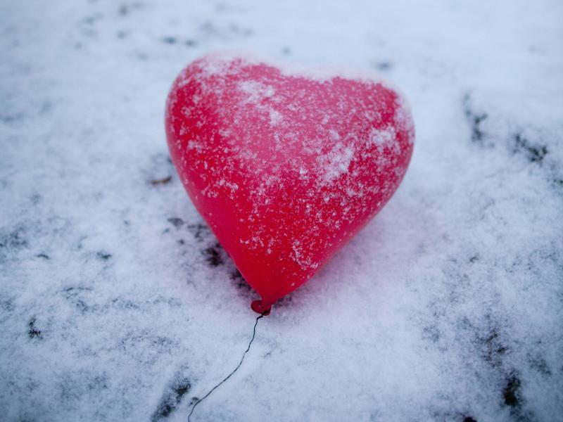 Bild zu Herz im Winter