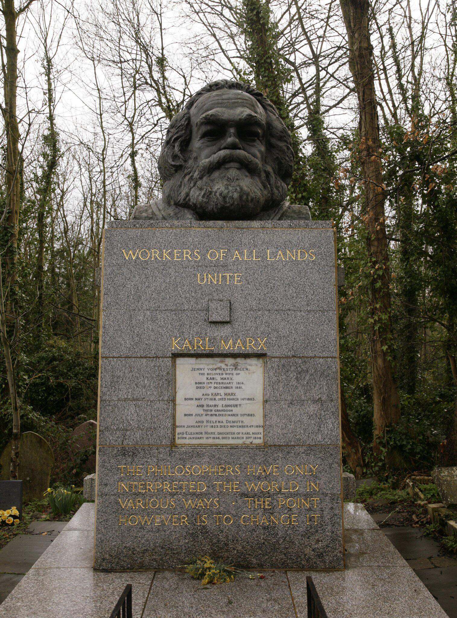 Bild zu Grabstätte von Karl Marx in London beschädigt