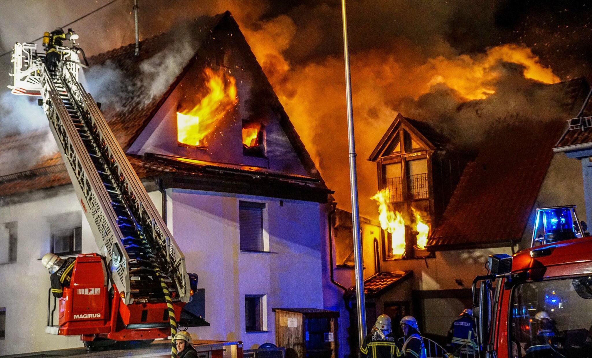 Bild zu Waiblingen, Feuer, Grossbrand